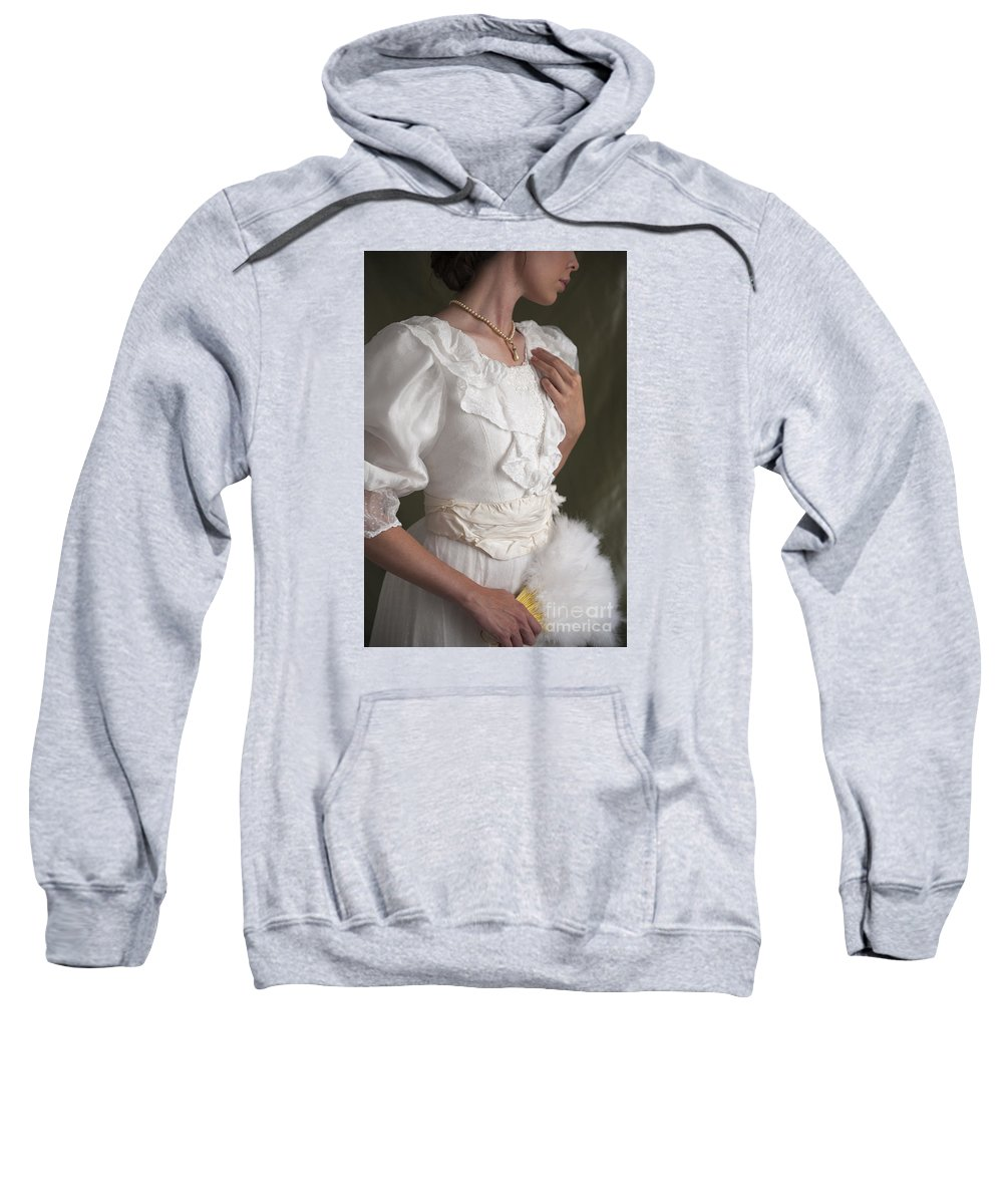 Edwardian Sweatshirt featuring the photograph Edwardian Woman Mid Section by Lee Avison