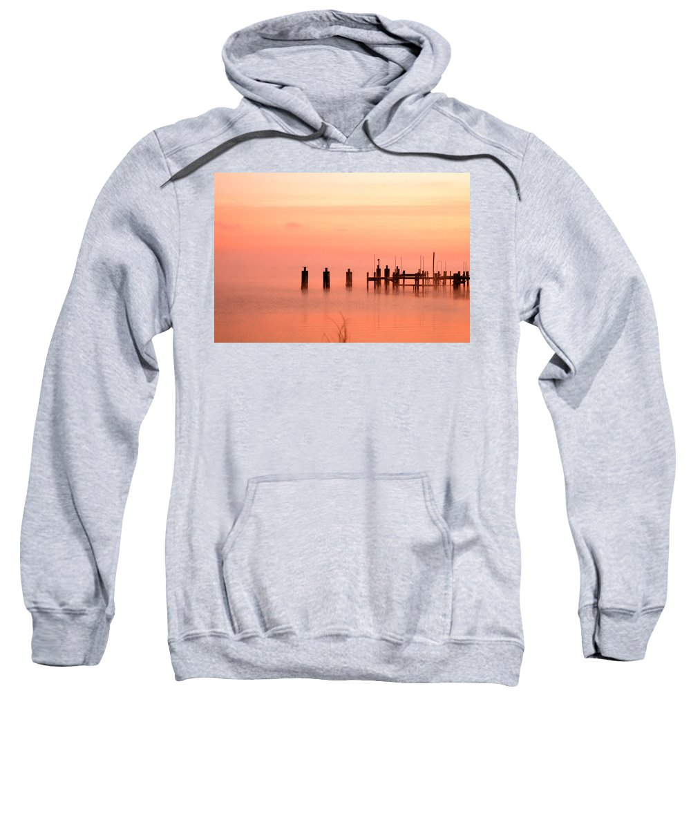 Clay Sweatshirt featuring the photograph Eery Morn by Clayton Bruster