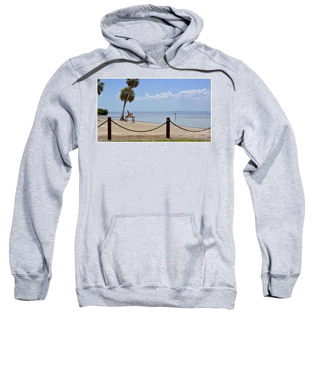 Beach Sweatshirt featuring the photograph E G Simmons Park Beach by Carol Bradley