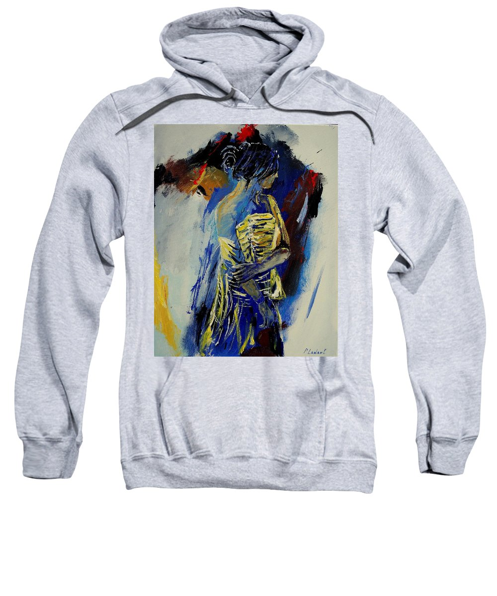 Girl Sweatshirt featuring the painting Eglantine 450110 by Pol Ledent