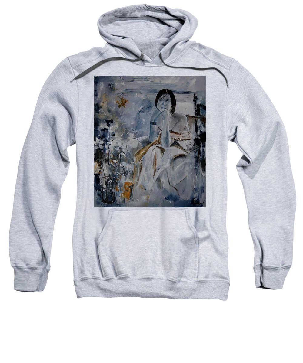 Girl Sweatshirt featuring the painting Eglantine 679011 by Pol Ledent