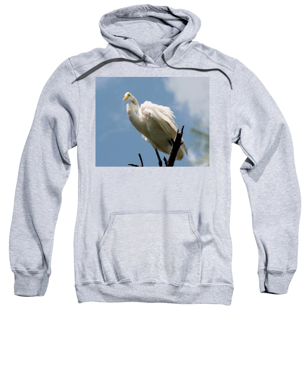 Egret Sweatshirt featuring the photograph Egret 2 by J M Farris Photography
