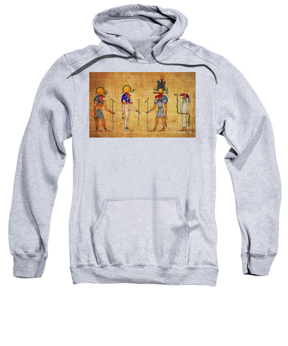 Egypt Sweatshirt featuring the digital art Egyptian Gods And Goddness by Michal Boubin
