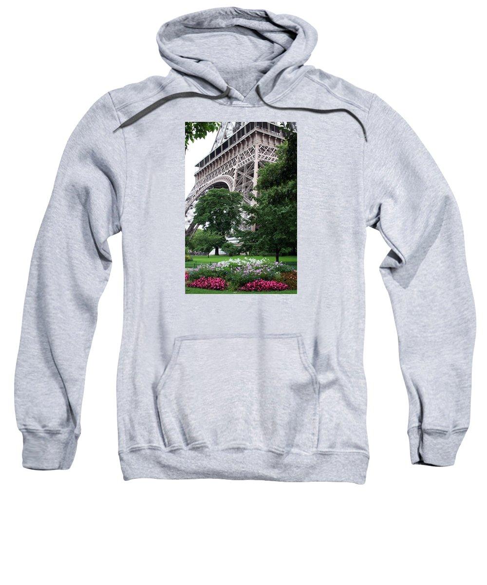 Eiffel Sweatshirt featuring the photograph Eiffel Tower Garden by Margie Wildblood
