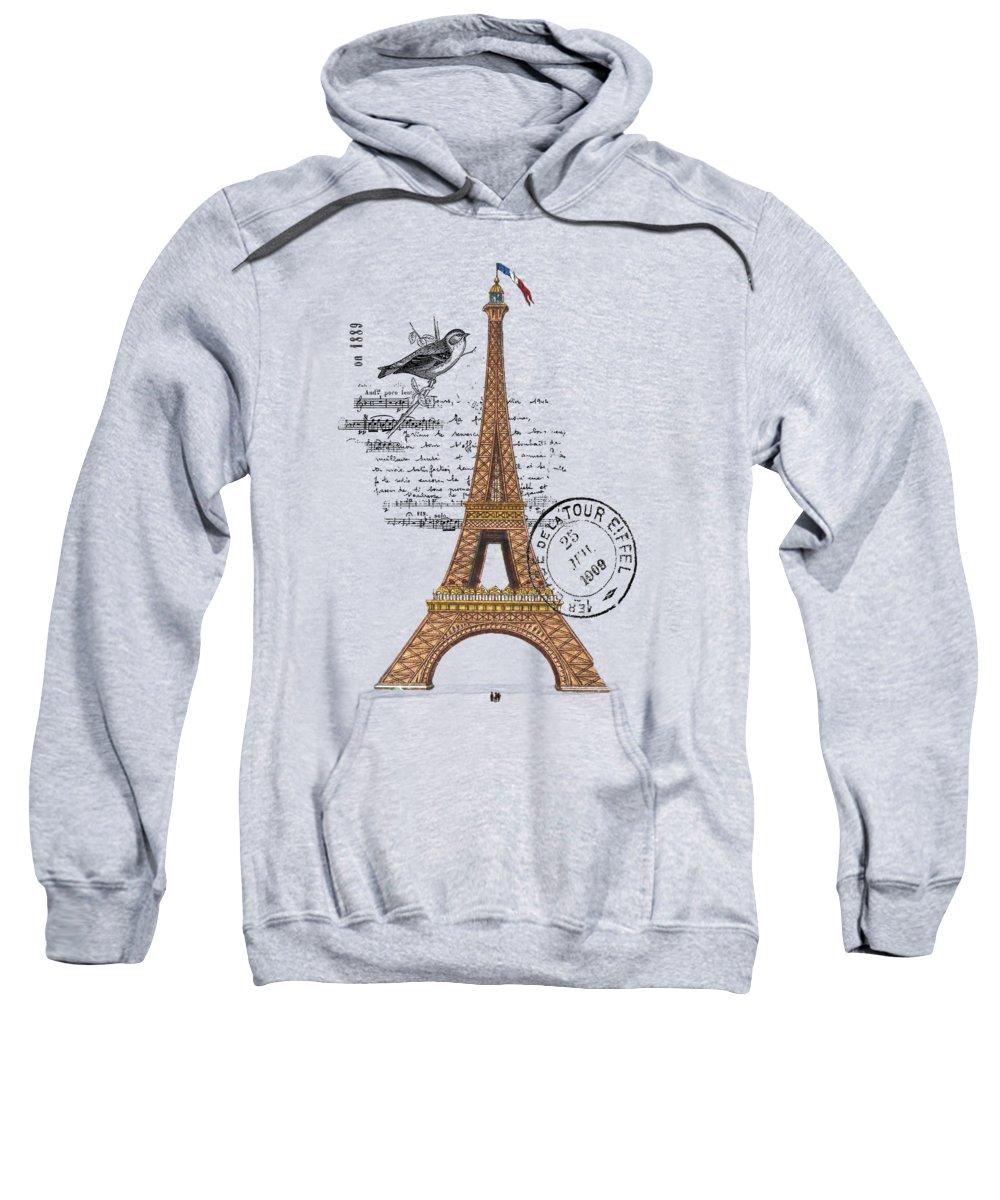 b6b1bc31f Eiffel Tower T Shirt Design Sweatshirt featuring the digital art Eiffel  Tower T Shirt Design by