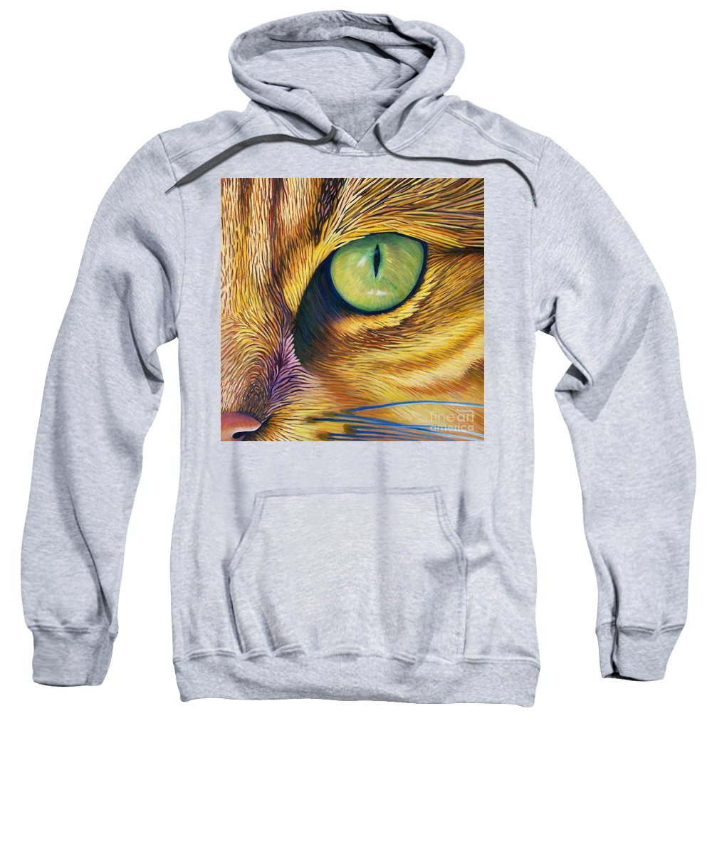 Cat Sweatshirt featuring the painting El Gato by Brian Commerford