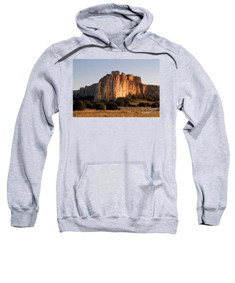 El Morro National Monument New Mexico Sweatshirt featuring the photograph El Morro by David Lee Thompson