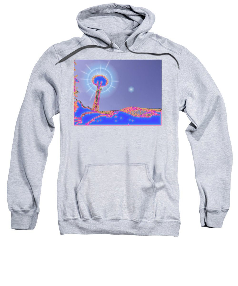 Seattle Sweatshirt featuring the photograph Electric Needle by Tim Allen