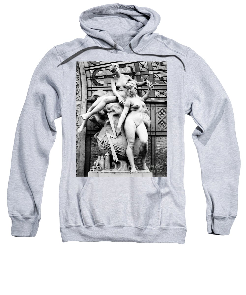 History Sweatshirt featuring the photograph Electricity, Paris Exposition, 1889 by Science Source