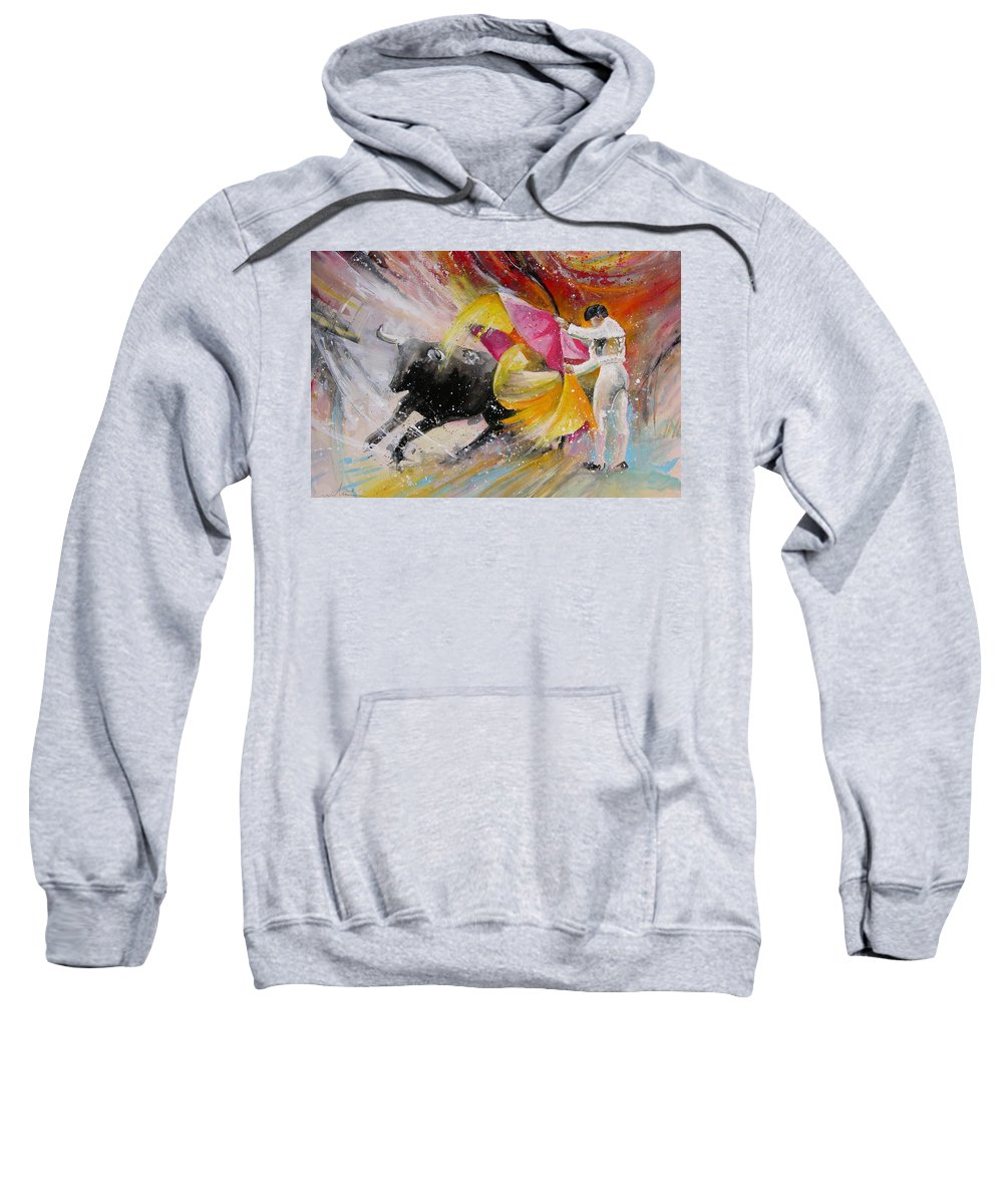 Animals Sweatshirt featuring the painting Elegance by Miki De Goodaboom
