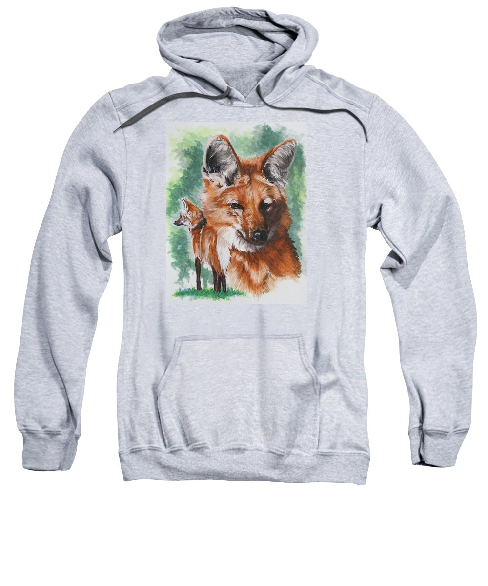 Canine Sweatshirt featuring the mixed media Elegant by Barbara Keith