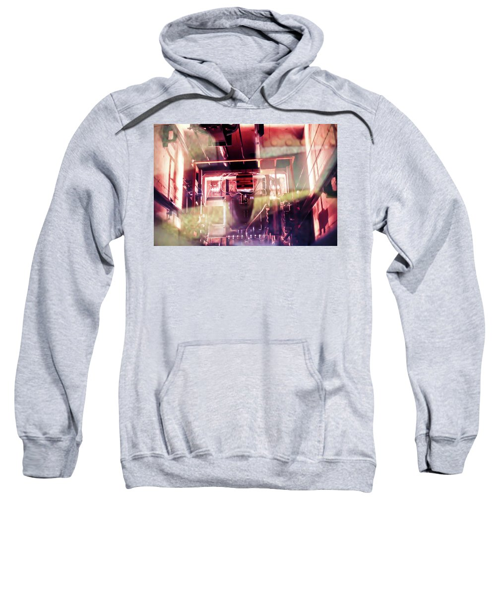 Elevator Sweatshirt featuring the photograph Elevator Ascends by Sam White