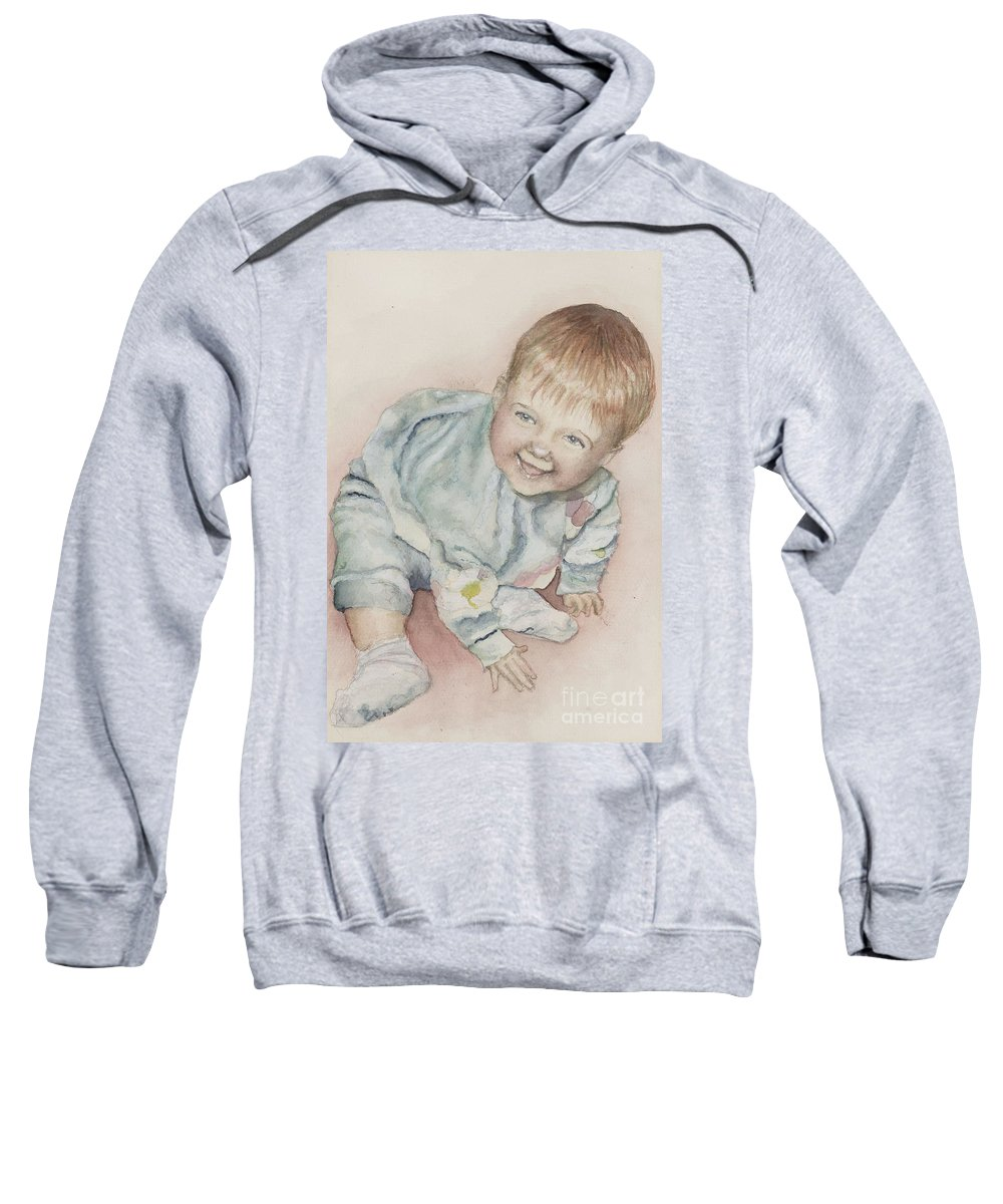Girl Sweatshirt featuring the painting Elise by Nadine Rippelmeyer
