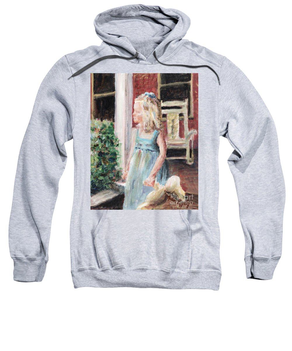 Girl Sweatshirt featuring the painting Elizabeth Anne by Nadine Rippelmeyer