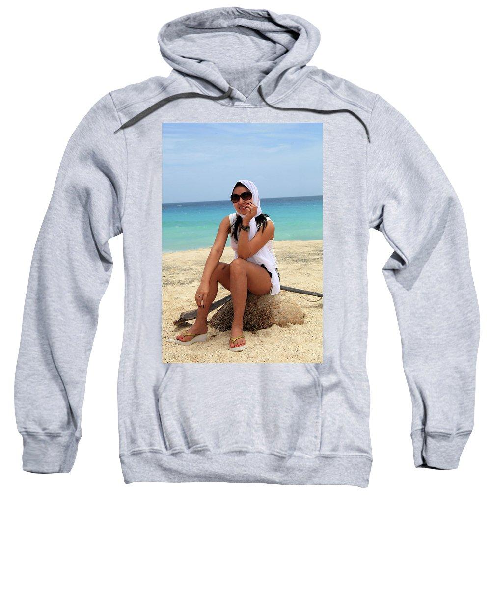 Mati Sweatshirt featuring the photograph Elleach by Jez C Self