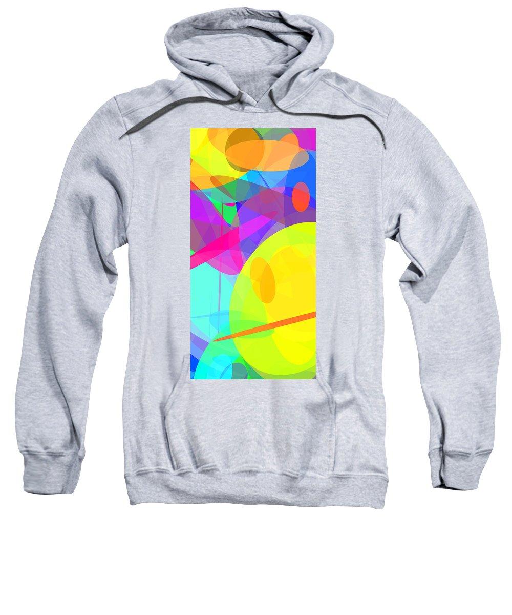 Ellipse Sweatshirt featuring the digital art Ellipses 14 by Chris Butler