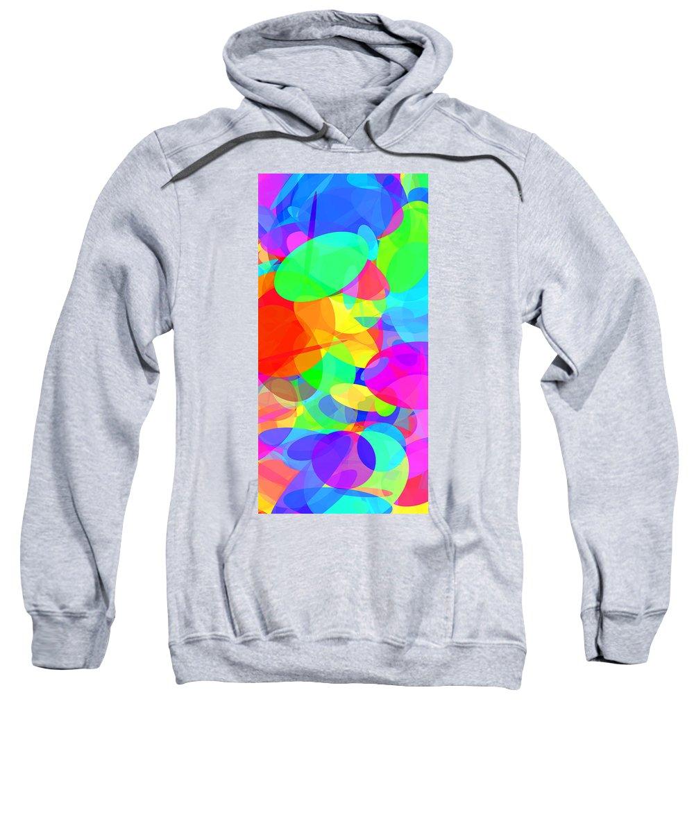 Ellipse Sweatshirt featuring the digital art Ellipses 20 by Chris Butler
