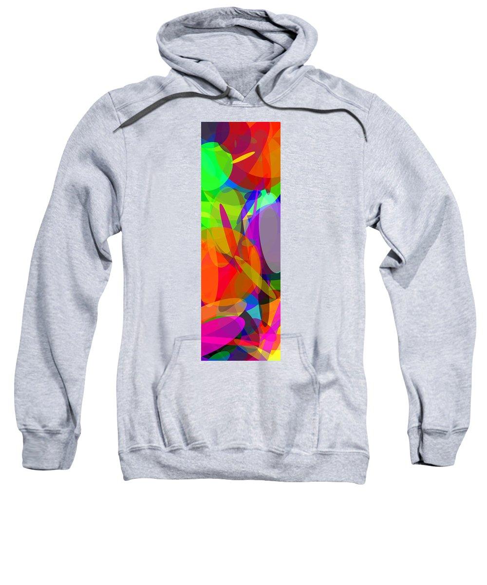 Ellipse Sweatshirt featuring the digital art Ellipses 6 by Chris Butler