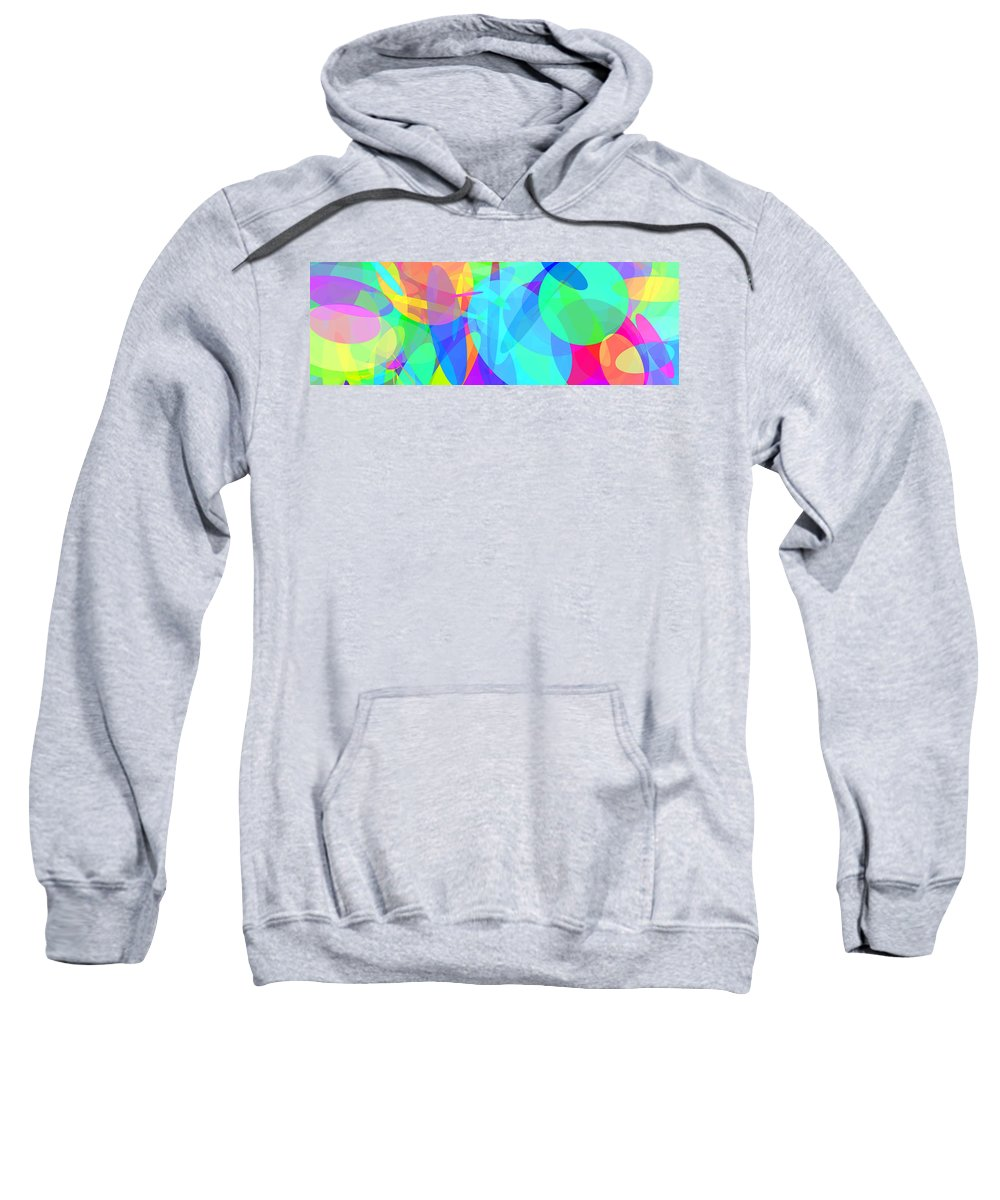Ellipse Sweatshirt featuring the digital art Ellipses 7 by Chris Butler