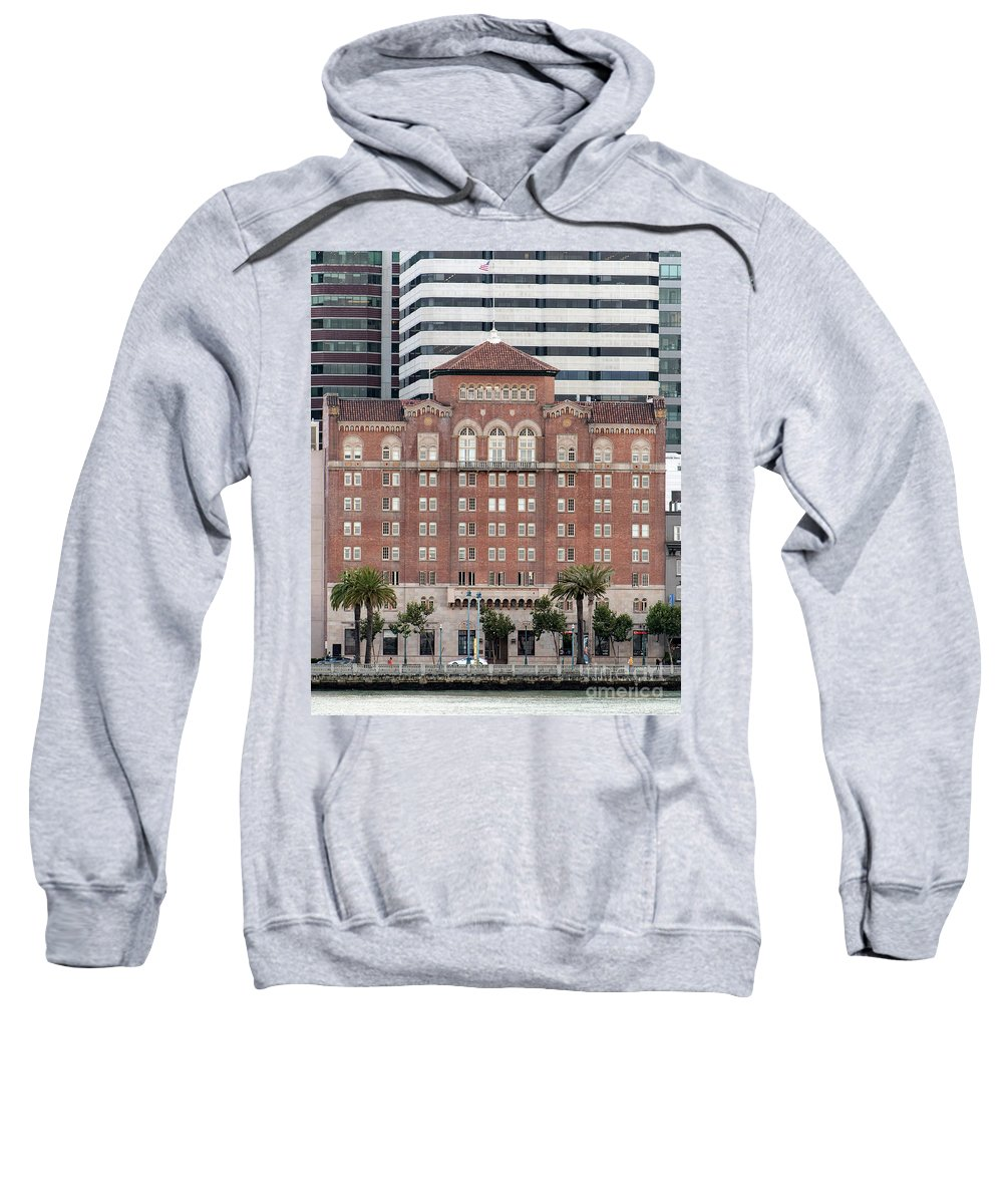 Embarcadero Ymca Sweatshirt featuring the photograph Embarcadero Ymca Building In San Francisco, California by David Oppenheimer