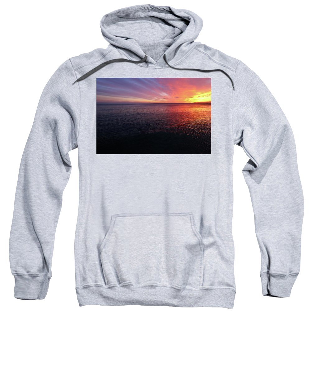 California Sweatshirt featuring the photograph Embark by Lisa Scammell