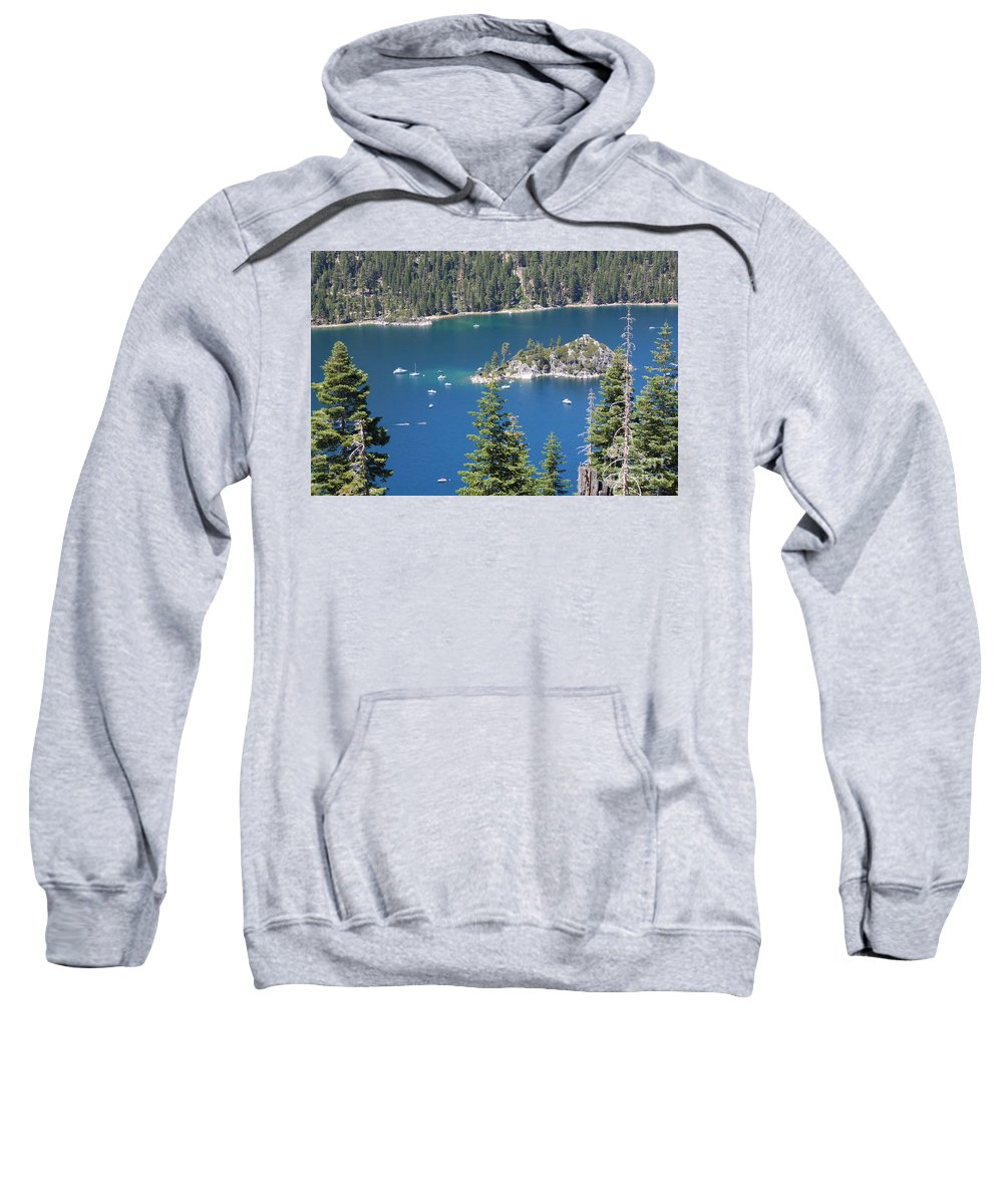 Emerald Bay Sweatshirt featuring the photograph Emerald Bay by Carol Groenen