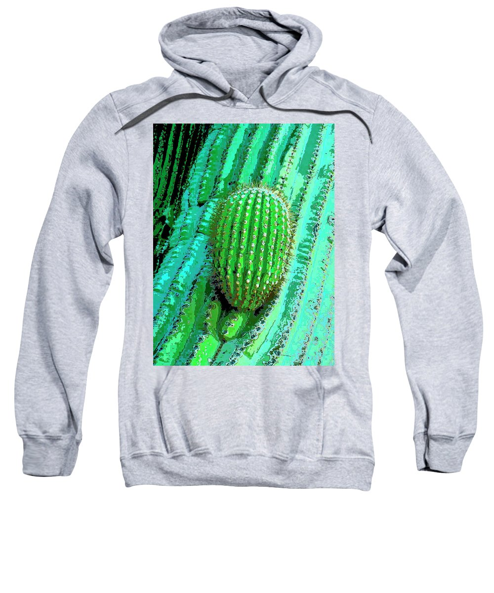 Cactus Sweatshirt featuring the mixed media Emergence by Dominic Piperata