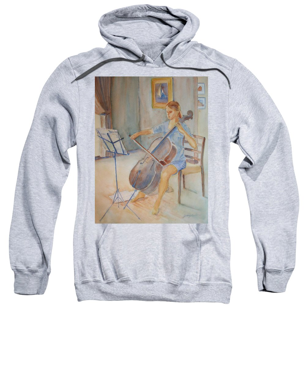 Girls Sweatshirt featuring the painting Emma And Clifford by Jenny Armitage