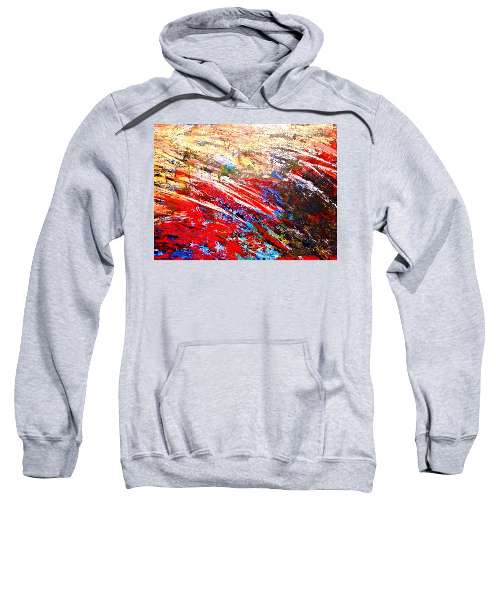Expressionism Sweatshirt featuring the painting Emotional Explosion by Natalie Holland