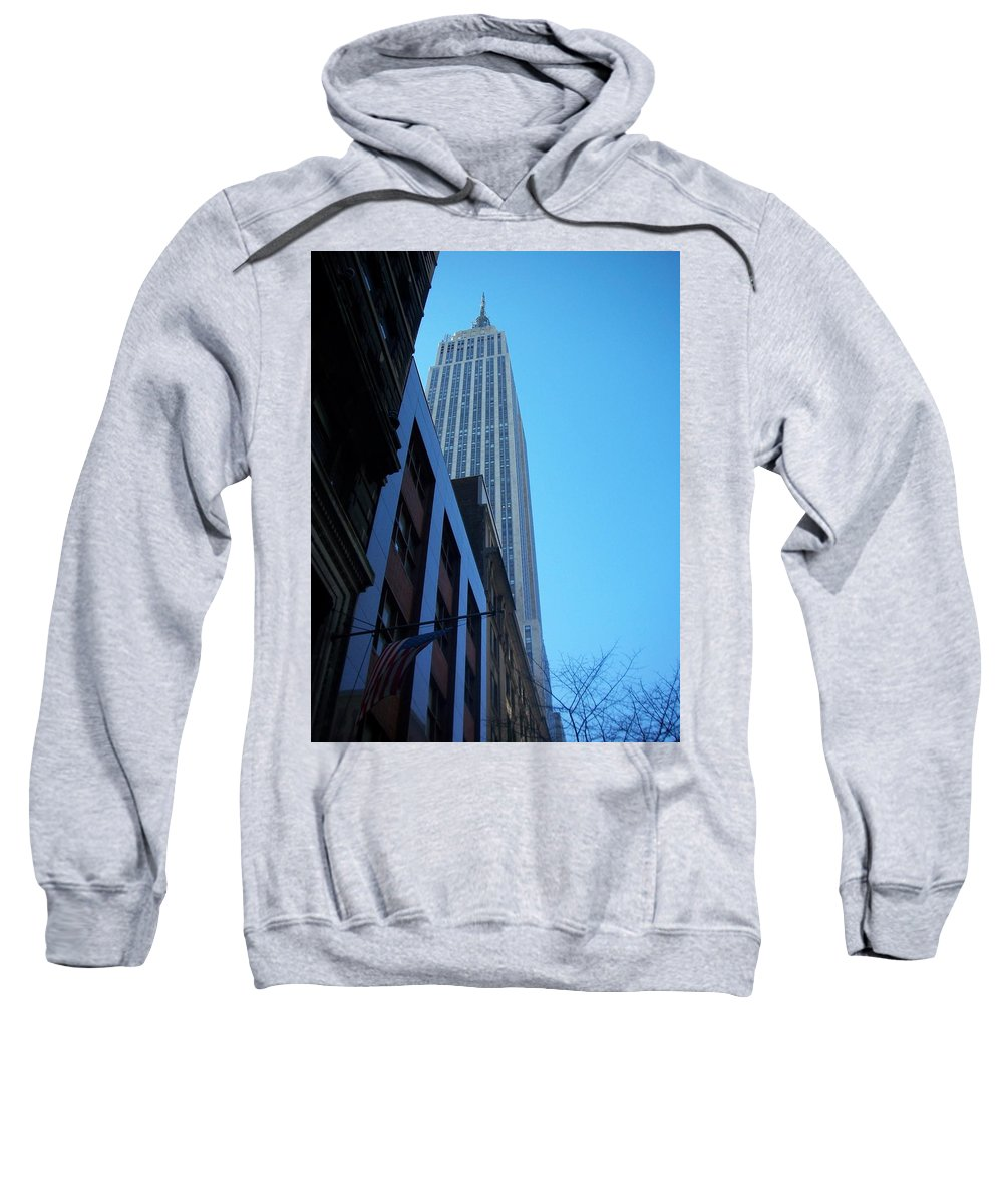 Emoire State Building Sweatshirt featuring the photograph Empire State 1 by Anita Burgermeister