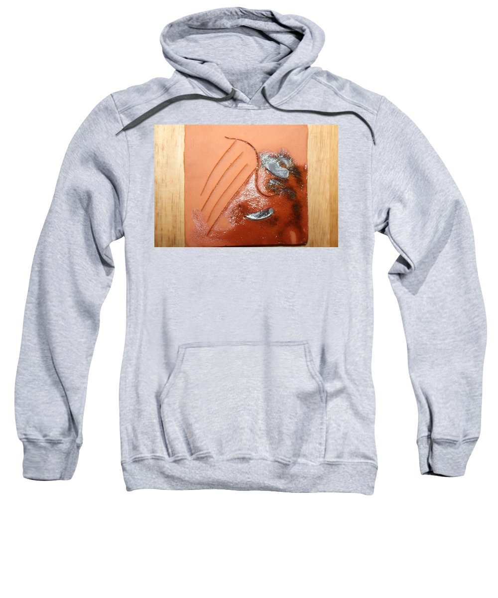Jesus Sweatshirt featuring the ceramic art Emptiness - Tile by Gloria Ssali