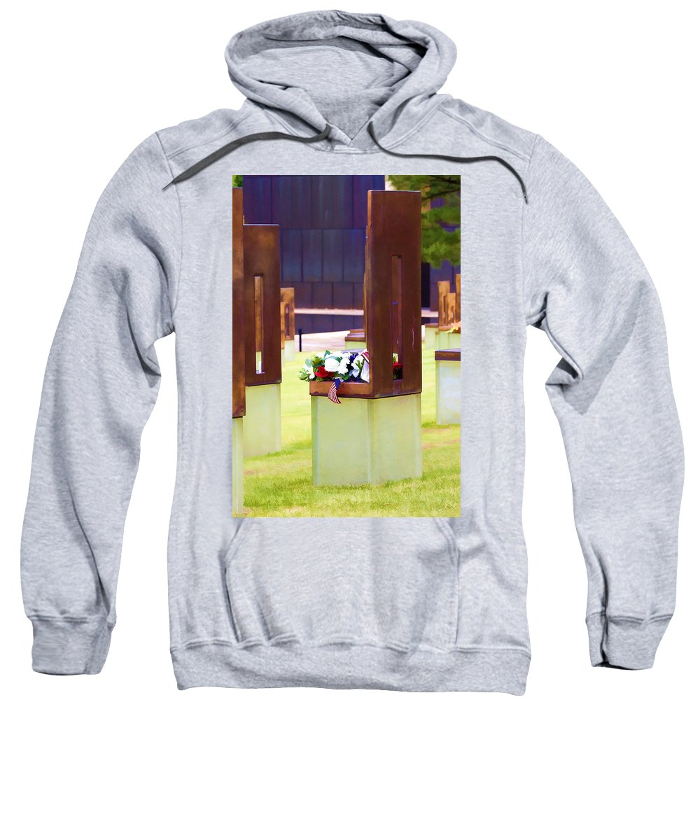 Oklahoma Sweatshirt featuring the photograph Empty Chairs by Ricky Barnard