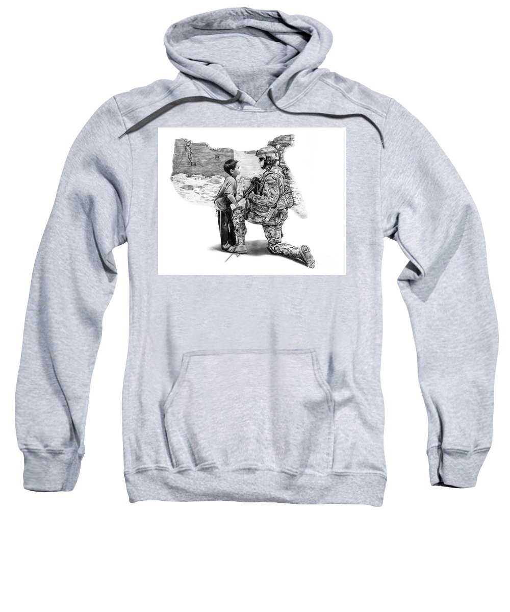 Empty Pockets Sweatshirt featuring the drawing Empty Pockets by Peter Piatt