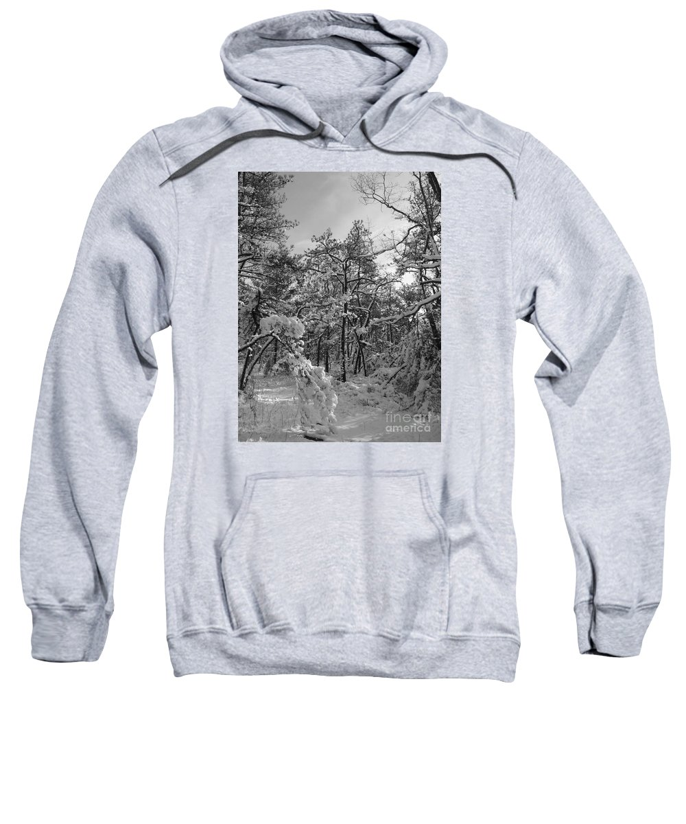 Black And White Sweatshirt featuring the photograph Empty Travel by Chad Natti