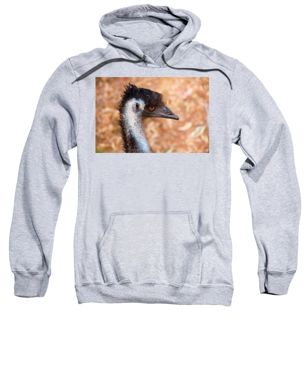 Emu Sweatshirt featuring the photograph Emu Profile by Mike Dawson
