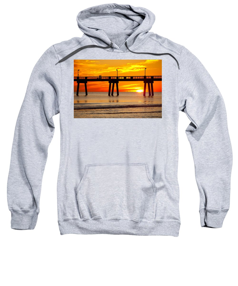Fishing Pier Sweatshirt featuring the photograph Enchanted by Janet Fikar