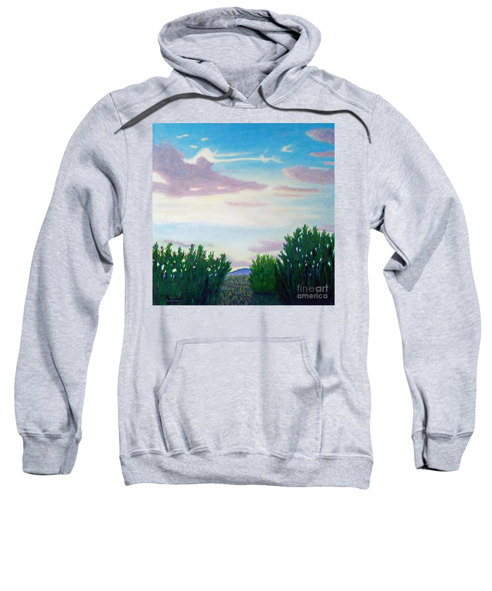 Landscape Sweatshirt featuring the painting Enchanted Land by Brian Commerford
