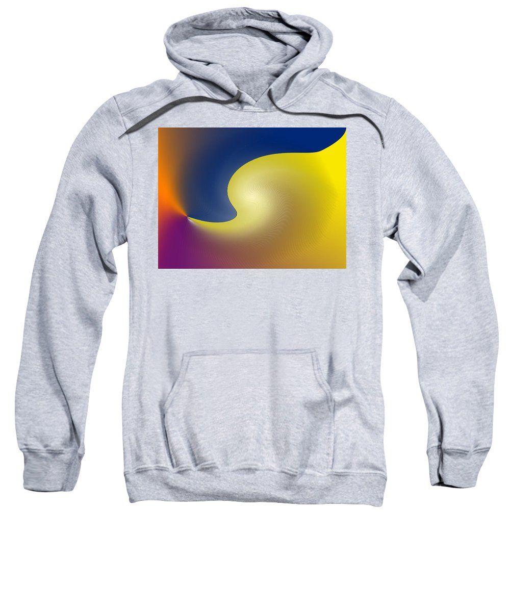 Abstract Sweatshirt featuring the digital art Encroaching by Ian MacDonald