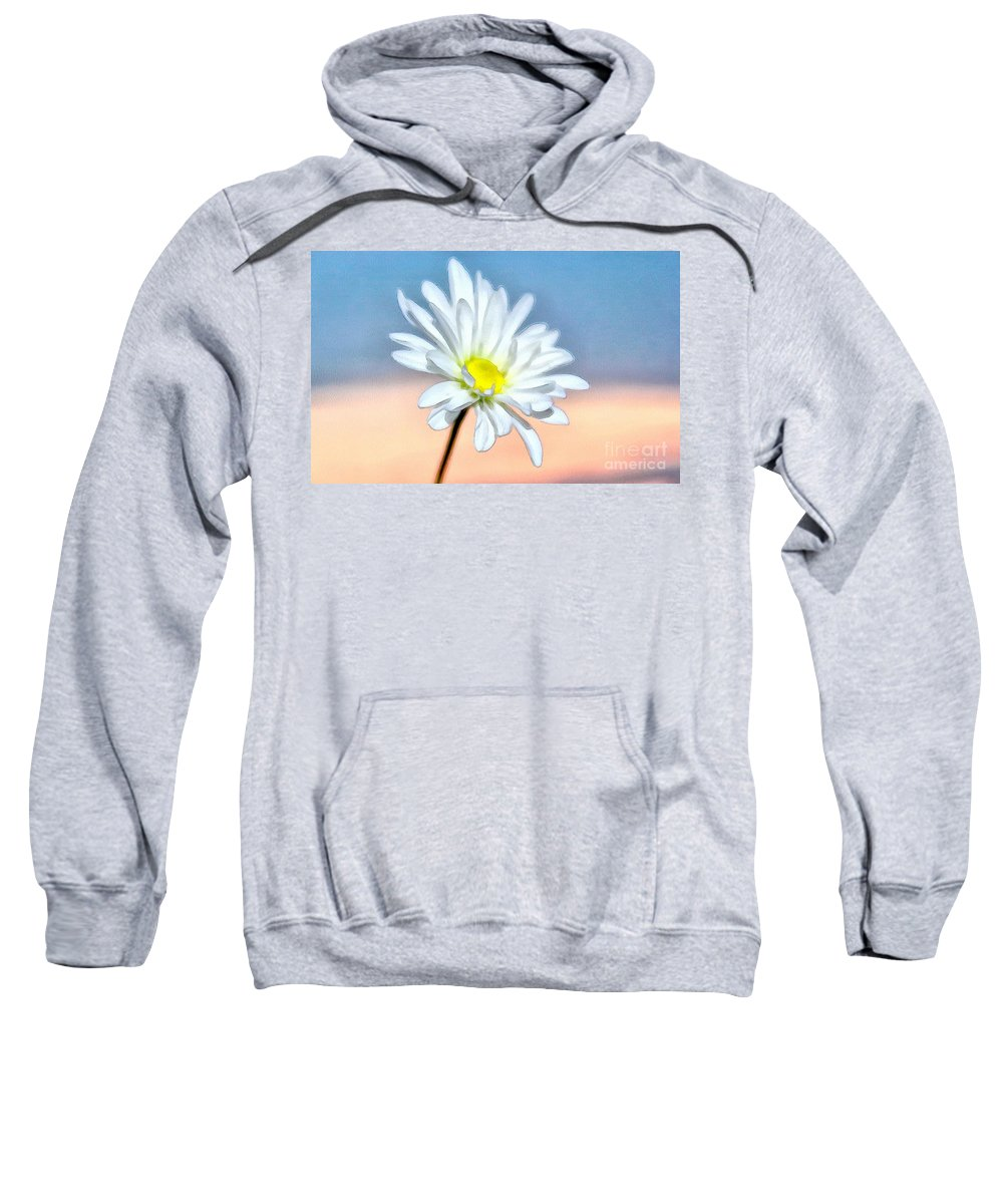 Daisy Sweatshirt featuring the photograph End Of The Day by Krissy Katsimbras