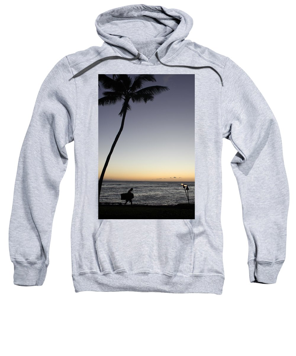 Surf Sweatshirt featuring the photograph End Of The Day by Lauri Novak