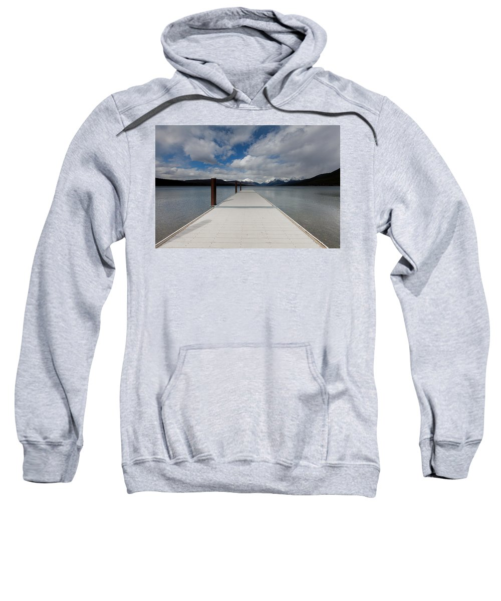 Dock Sweatshirt featuring the photograph End Of The Dock by Fran Riley