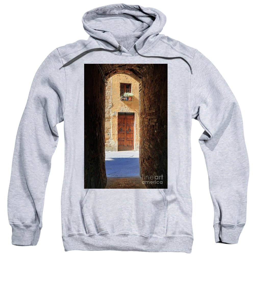 Europe Sweatshirt featuring the photograph End Of The Tunnel by Inge Johnsson