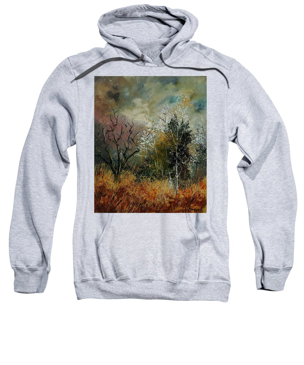 River Sweatshirt featuring the painting End Of Winter by Pol Ledent