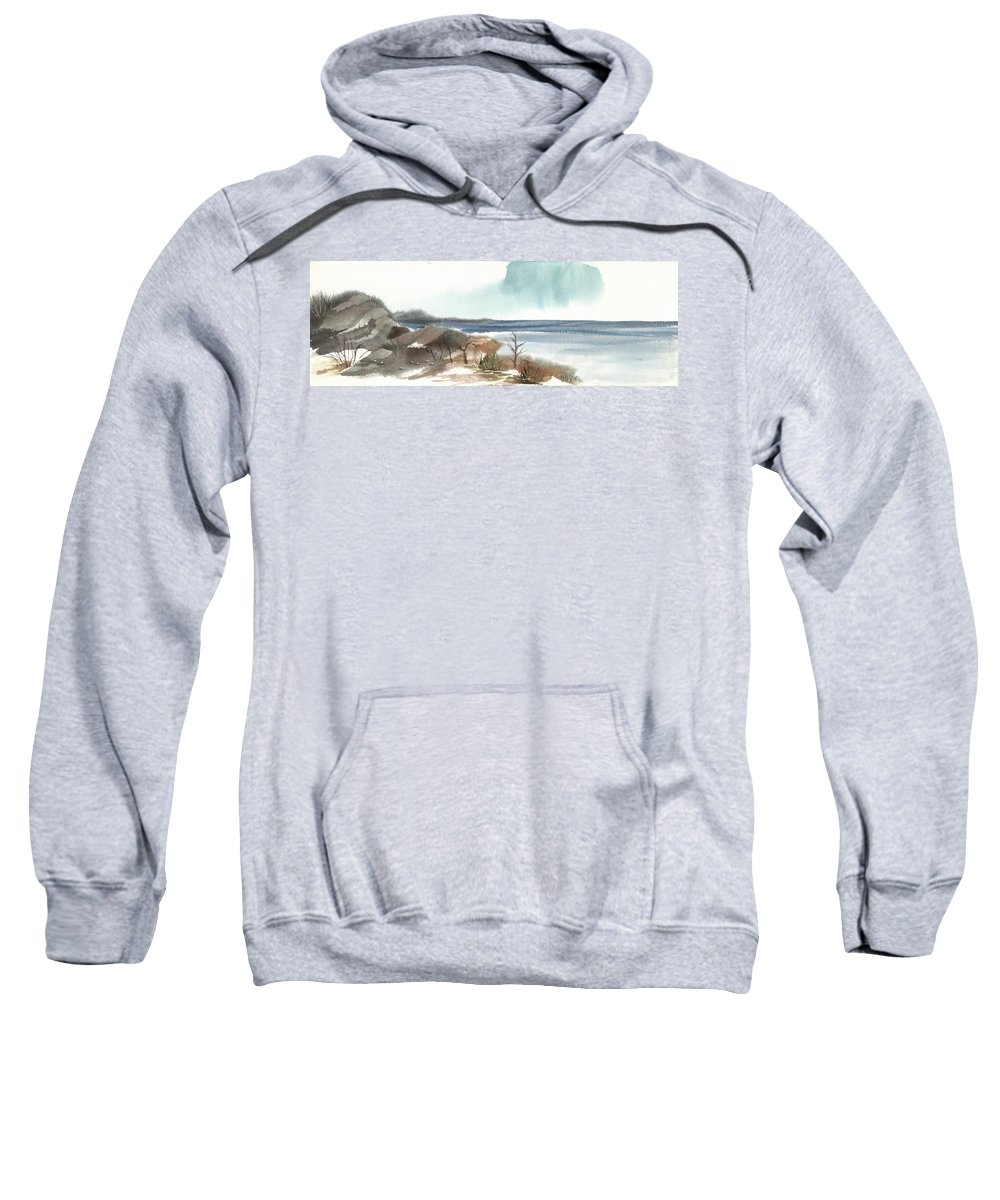 Shore Sweatshirt featuring the painting Endless Ocean by Carol Helene