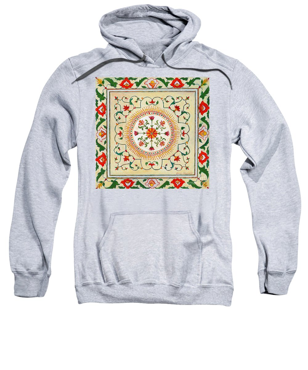 Plants Sweatshirt featuring the painting Enduring Love Floral Painting by Portraits By NC