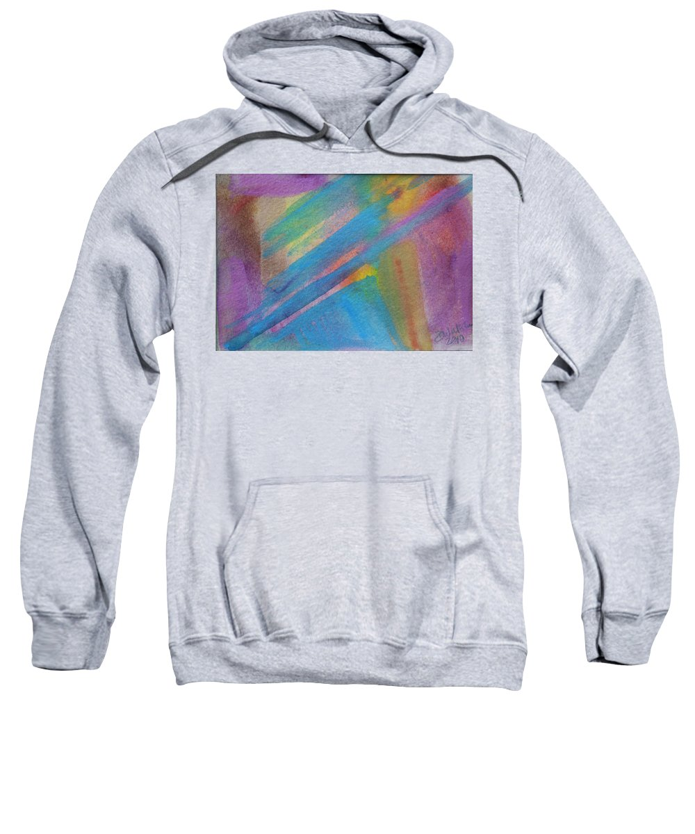 Abstract Sweatshirt featuring the painting Energy by Donna Walsh