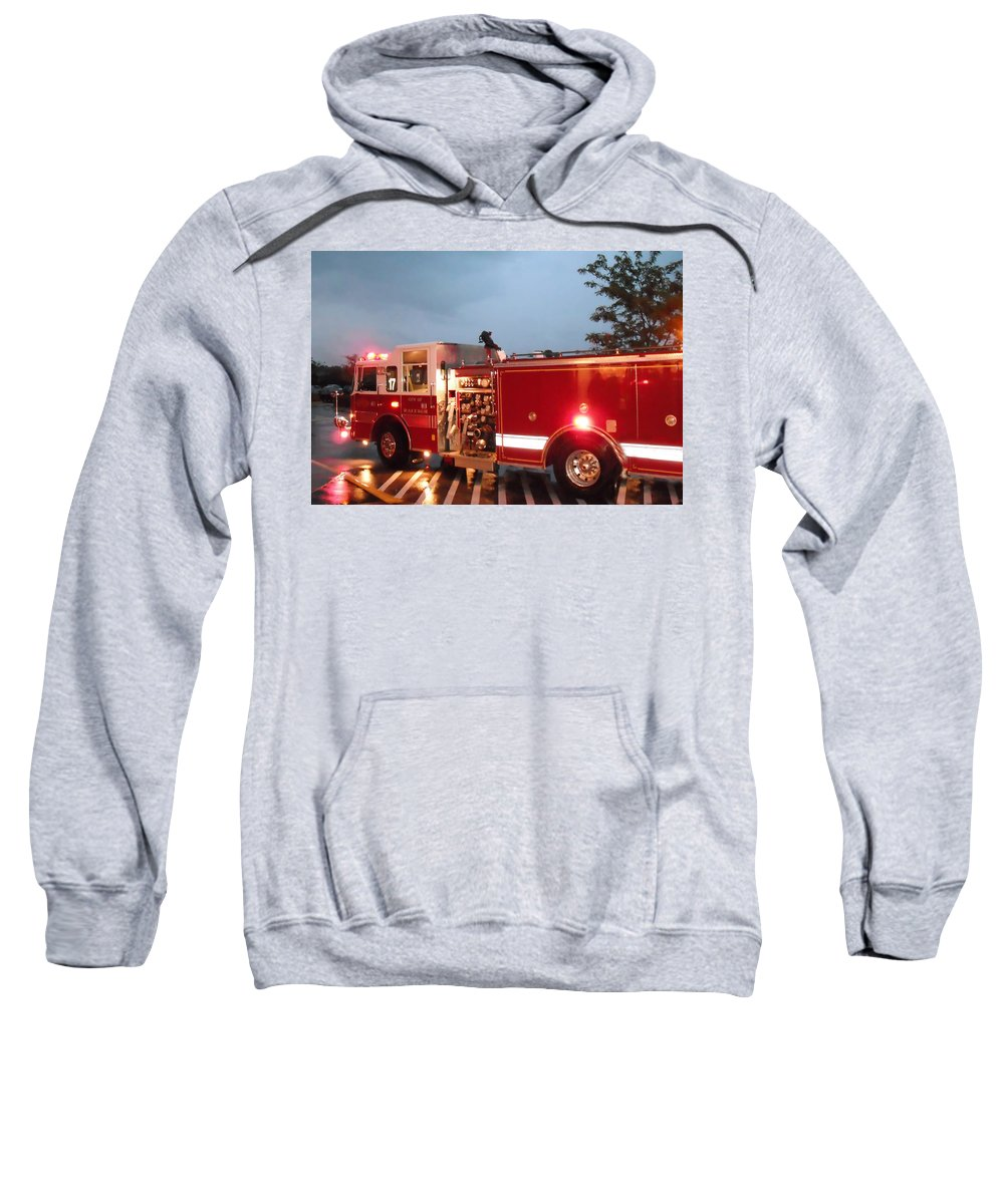 Fire Sweatshirt featuring the photograph Engine 17 by Gary Adkins