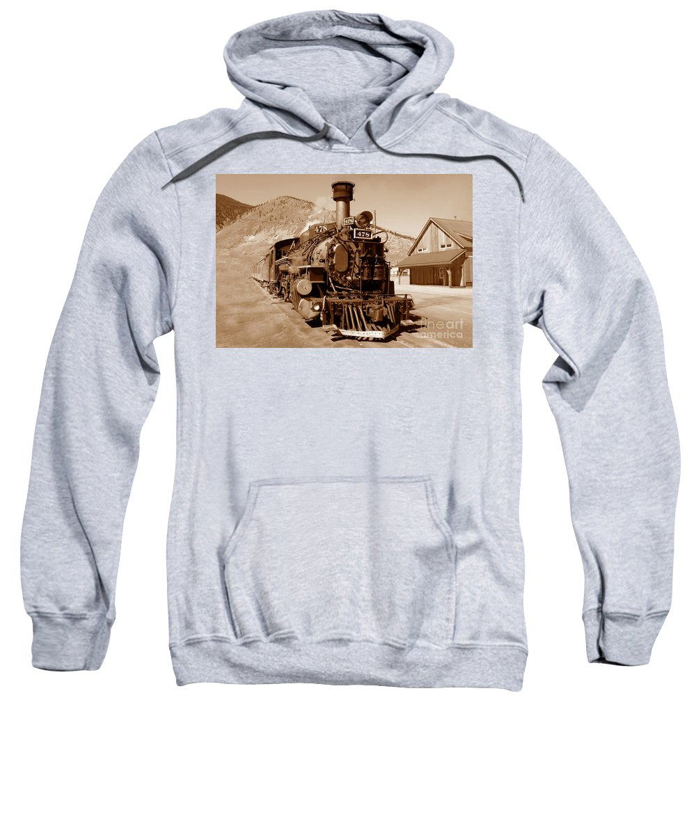 Train Sweatshirt featuring the photograph Engine Number 478 by David Lee Thompson