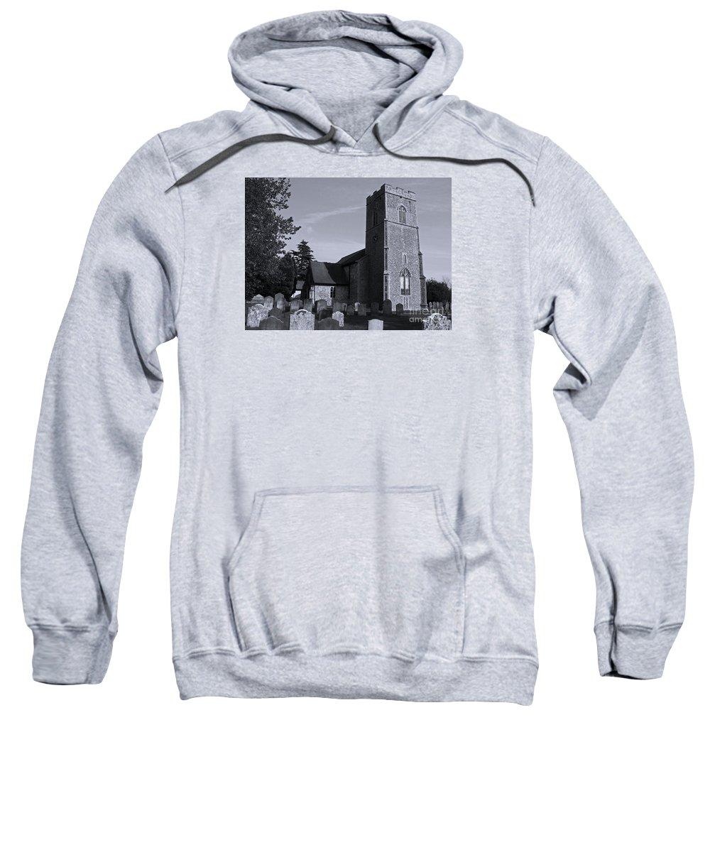 Church Sweatshirt featuring the photograph English Churchyard by Ann Horn