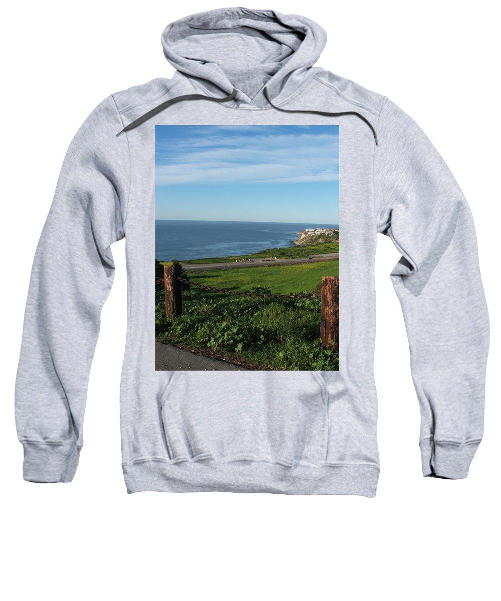 Ocean Sweatshirt featuring the photograph Enjoying The View by Shari Chavira